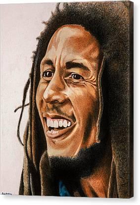 Bob Marley Canvas Print by Brian Broadway