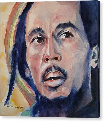 Bob Marley Canvas Print by Brian Degnon