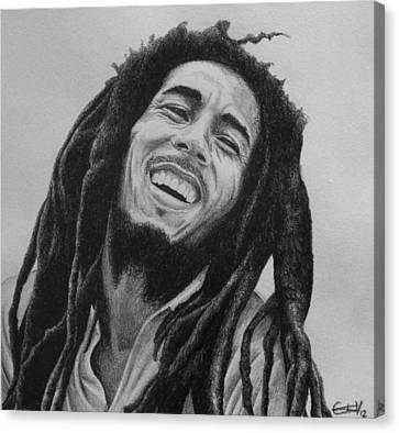 Bob Marley Canvas Print by Carlos Velasquez Art