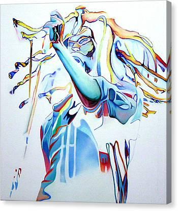 Bob Marley Colorful Canvas Print by Joshua Morton