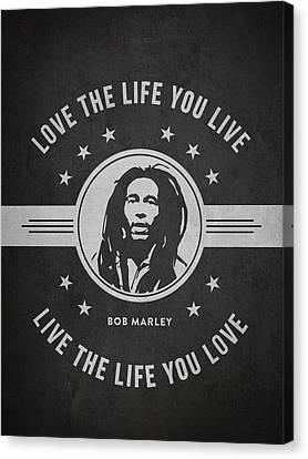 Bob Marley - Dark Canvas Print by Aged Pixel