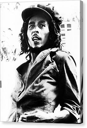 Bob Marley In His Youth Canvas Print by Retro Images Archive
