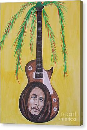 Bob Marley Canvas Print by Jeepee Aero