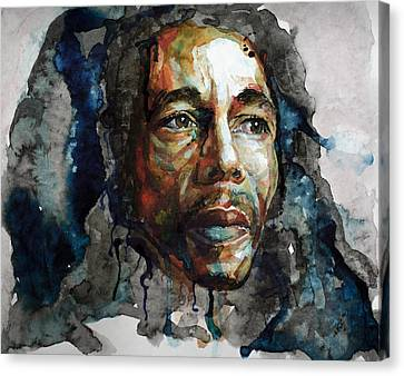 Bob Marley Canvas Print by Laur Iduc