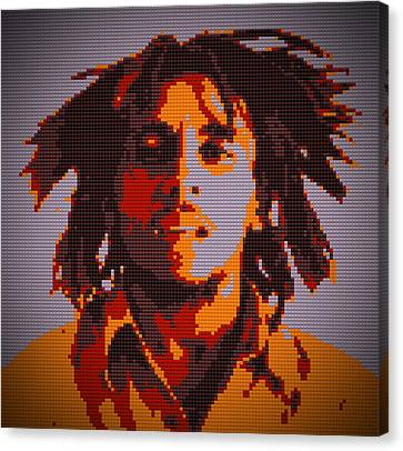 Bob Marley Lego Pop Art Digital Painting Canvas Print