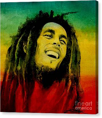 Bob Marley Canvas Print by Lin Petershagen