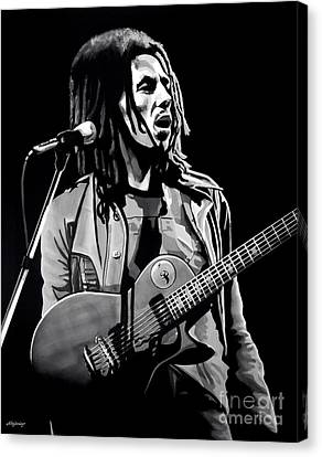 Bob Marley Tuff Gong Canvas Print by Meijering Manupix
