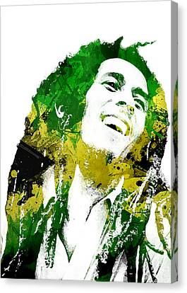 Entertainment Canvas Print - Bob Marley by Mike Maher