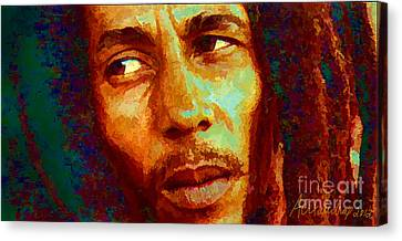Bob Marley One And Only Canvas Print by Alexandra Jordankova