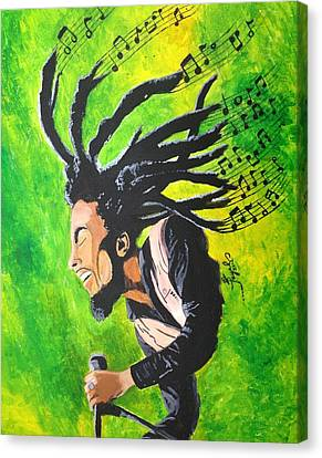 Bob Marley - One With The Music Canvas Print