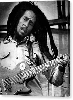 Bob Marley Playing Guitar Canvas Print by Retro Images Archive