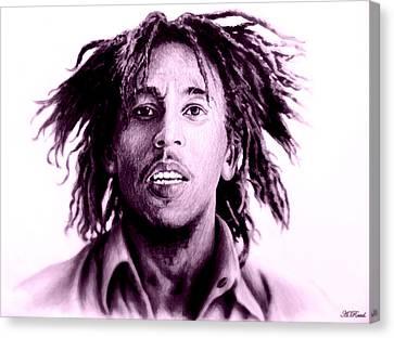 Bob Marley   Purple Haze Canvas Print by Andrew Read