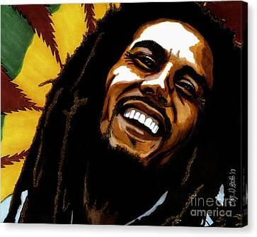 Bob Marley Rastafarian Canvas Print