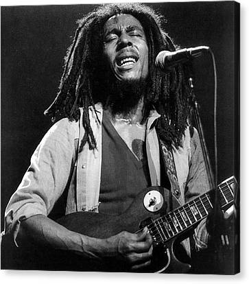 Bob Marley Singing Into The Microphone Canvas Print by Retro Images Archive