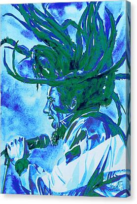 Concert Images Canvas Print - Bob Marley Singing Portrait.2 by Fabrizio Cassetta
