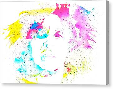 Bob Marley Watercolor Canvas Print by Dan Sproul