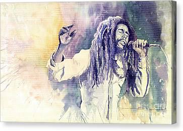 Bob Marley Canvas Print by Yuriy  Shevchuk