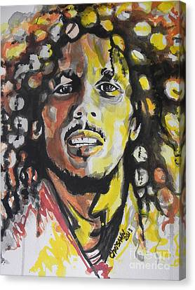 Bob Marley 01 Canvas Print by Chrisann Ellis