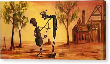 Bob 'n' Betty - Broken Hill Canvas Print by Lyndsey Hatchwell