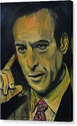 Canvas Print featuring the drawing Bob Odenkirk - Better Call Saul by Eric Dee