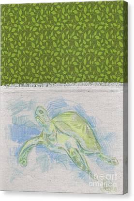 Bob The Sea Turtle Canvas Print by Michael Ciccotello