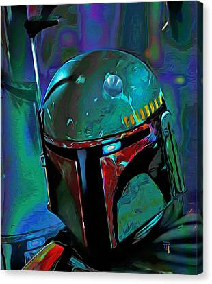 Boba Fett 3 Canvas Print by  Fli Art