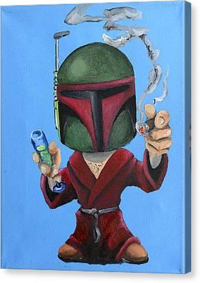Boba Hef Canvas Print by Chris  Leon