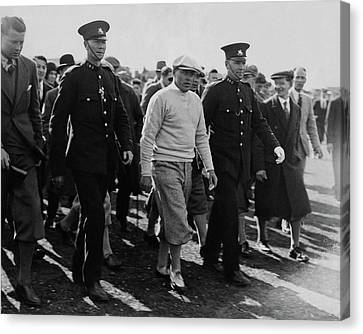 Bobby Jones Walking Being Escorted By Police Canvas Print by Artist Unknown