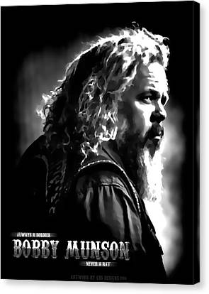 Bobby Munson - Sons Of Anarchy Canvas Print by Anibal Diaz