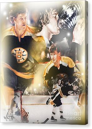 Bobby Orr Canvas Print by Mike Oulton