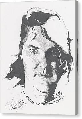 Bobby Pins Canvas Print by Alex Rodriguez