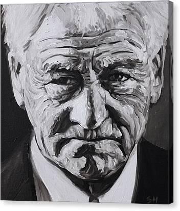 Bobby Robson Canvas Print by Steve Hunter