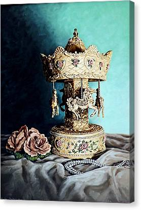 Bobby's Carousel Canvas Print by Linda Becker