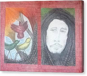 Bob's 3 Little Birds Canvas Print by Michele Moore