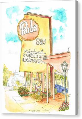 Bob's Big Boy In Burbank, California Canvas Print by Carlos G Groppa