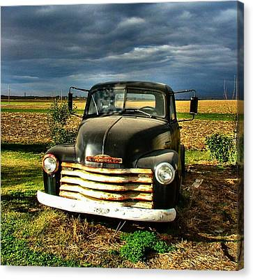 Bob's Old Chevy Truck Canvas Print by Julie Dant