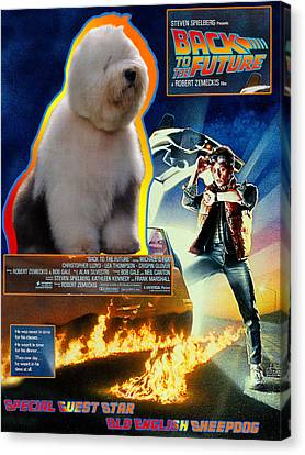 Bobtail - Old English Sheepdog Art Canvas Print - Back To The Future Movie Poster Canvas Print