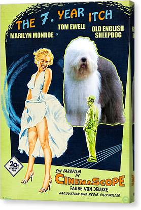 Bobtail -  Old English Sheepdog Art Canvas Print - The Seven Year Itch Movie Poster Canvas Print