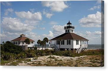 Boca Grande Lighthouse Canvas Print by Christiane Schulze Art And Photography