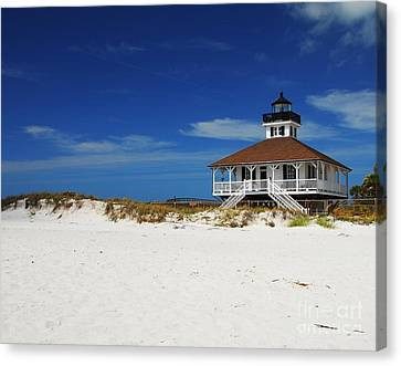 Boca Grande Lighthouse Canvas Print by Mel Steinhauer