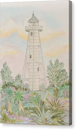 Boca Grande Lighthouse Canvas Print by Nancy Taylor
