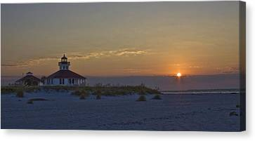 Boca Grande Lighthouse Sunrise Canvas Print by Regina  Williams