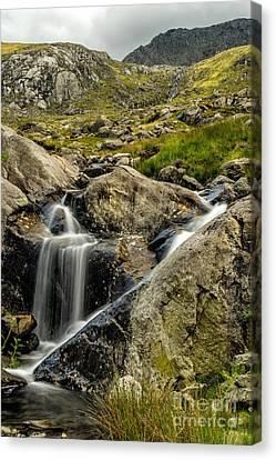 Bochlwyd Waterfall Canvas Print by Adrian Evans