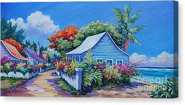 Bodden Town Panorama Canvas Print