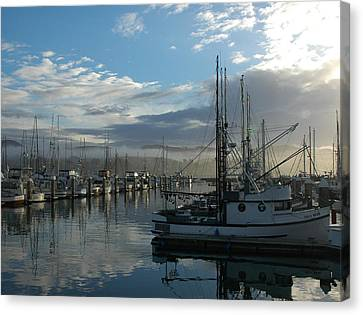 Bodega Fishing Boats Canvas Print