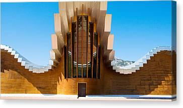 Bodegas Ysios Winery Building, La Canvas Print
