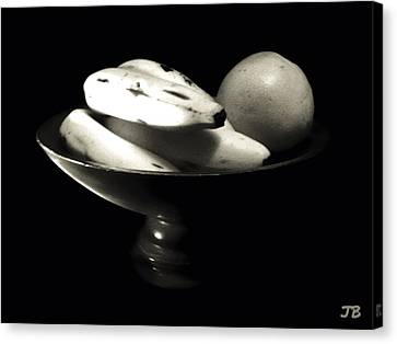 Bodegon Black And White Canvas Print by Jorge Bencosme