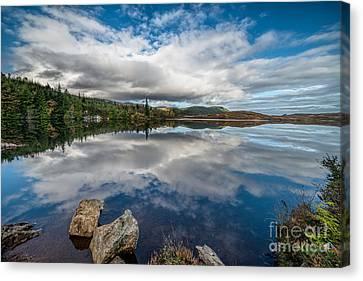 Bodgynydd Lake Canvas Print by Adrian Evans