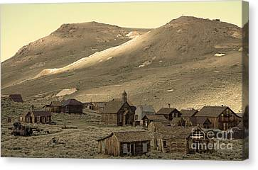 Canvas Print featuring the photograph Bodie California by Nick  Boren