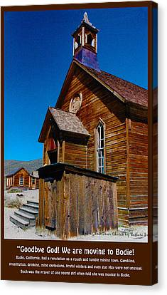Bodie Ghost Town Church Canvas Print by Barbara Snyder